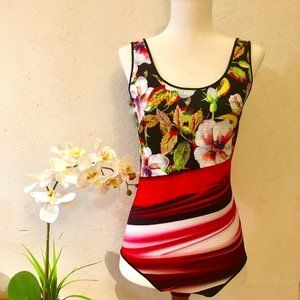 Clover Canyon SzM Floral Swirl Reversible Swimsuit